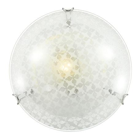 Потолочный светильник Sonex Sali 235, 2xE27x100W, хром, матовый, прозрачный, металл, стекло