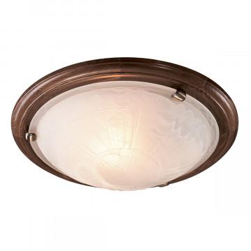 Потолочный светильник Sonex Lufe Wood 236, 2xE27x100W, бронза, коричневый, матовый, дерево, стекло