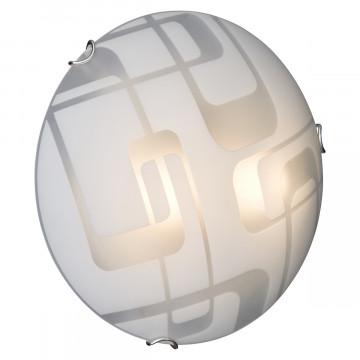 Потолочный светильник Sonex Halo 257, 2xE27x100W, хром, белый, металл, стекло - миниатюра 2
