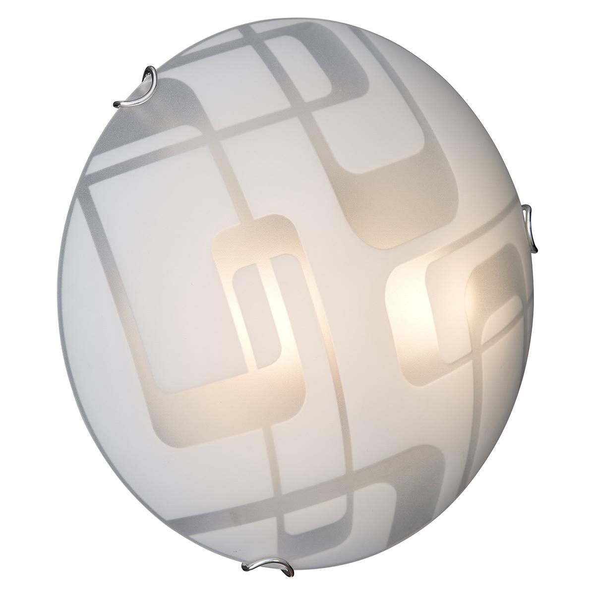 Потолочный светильник Sonex Halo 257, 2xE27x100W, хром, белый, металл, стекло - фото 2