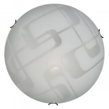 Потолочный светильник Sonex Halo 257, 2xE27x100W, хром, белый, металл, стекло - миниатюра 3