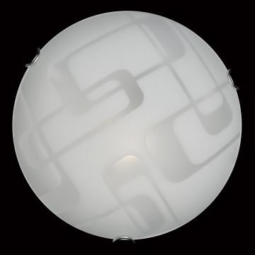 Потолочный светильник Sonex Halo 257, 2xE27x100W, хром, белый, металл, стекло - миниатюра 5