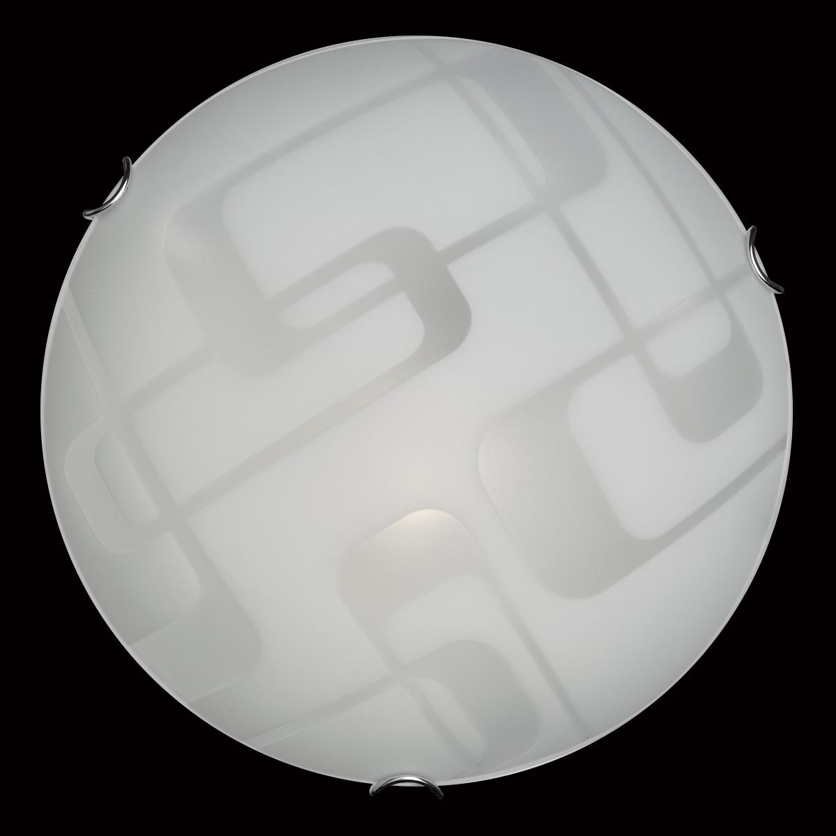 Потолочный светильник Sonex Halo 257, 2xE27x100W, хром, белый, металл, стекло - фото 5
