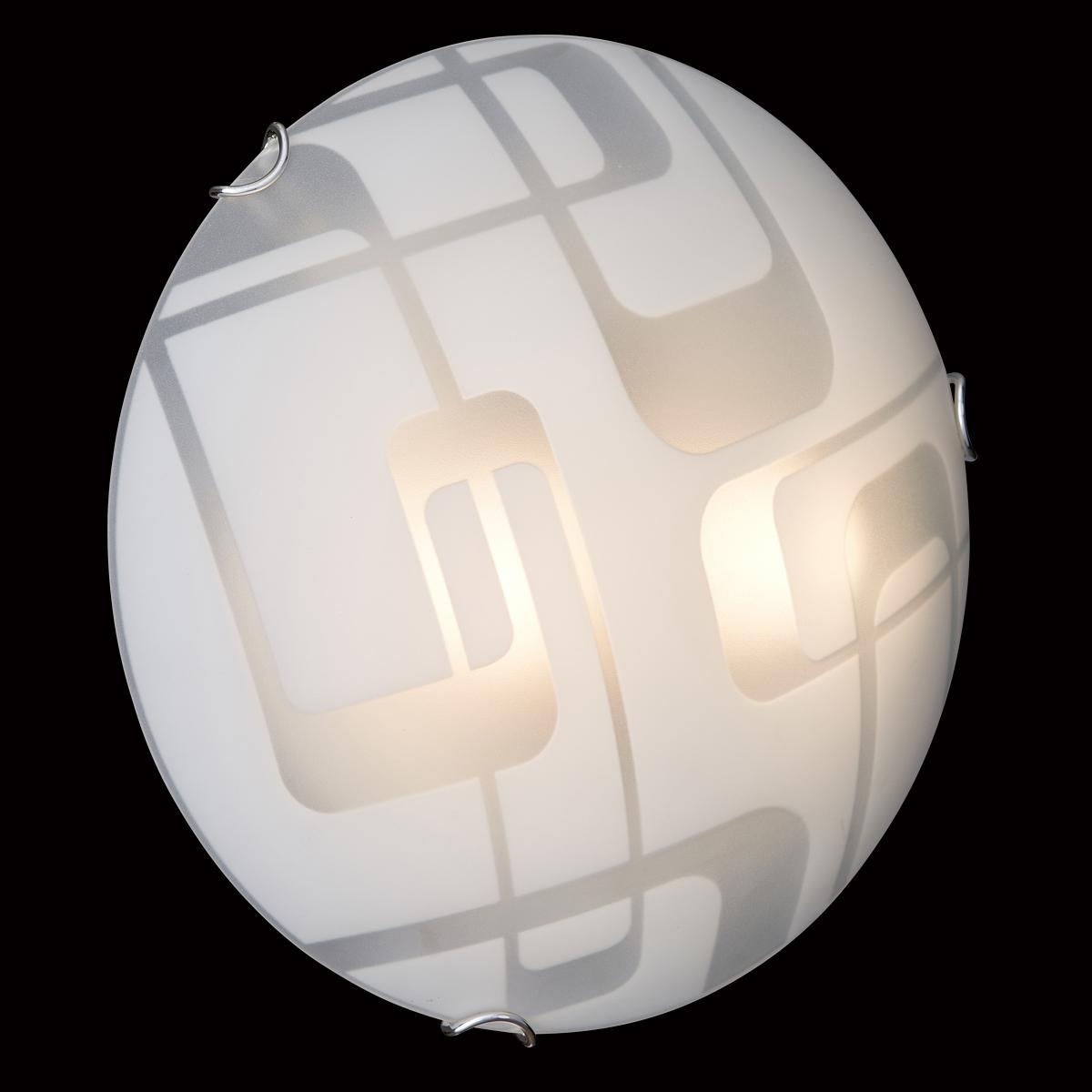 Потолочный светильник Sonex Halo 257, 2xE27x100W, хром, белый, металл, стекло - фото 6