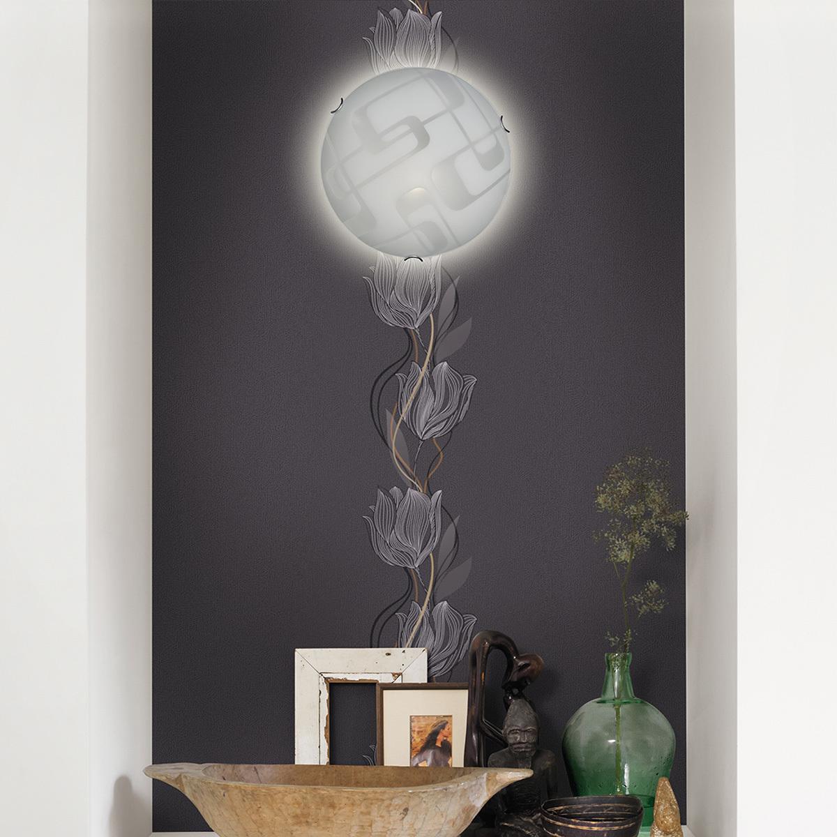 Потолочный светильник Sonex Halo 257, 2xE27x100W, хром, белый, металл, стекло - фото 7