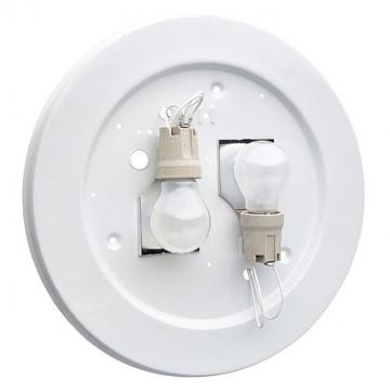 Потолочный светильник Sonex Halo 257, 2xE27x100W, хром, белый, металл, стекло - миниатюра 8