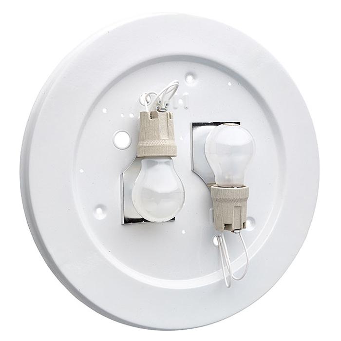 Потолочный светильник Sonex Halo 257, 2xE27x100W, хром, белый, металл, стекло - фото 8