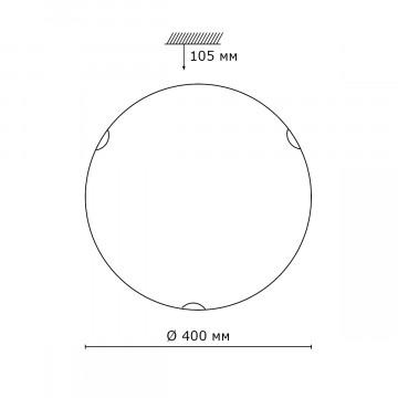 Схема с размерами Sonex 257