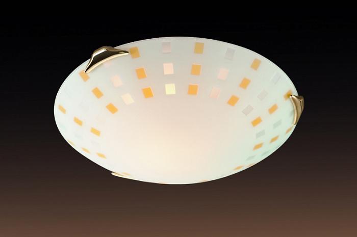 Потолочный светильник Sonex Quadro Ambra 263, 2xE27x100W, золото, желтый, металл, стекло - фото 1