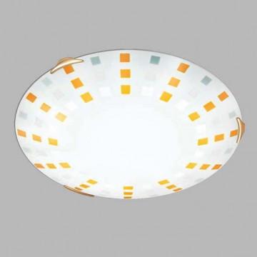 Потолочный светильник Sonex Quadro Ambra 263, 2xE27x100W, золото, желтый, металл, стекло - миниатюра 3