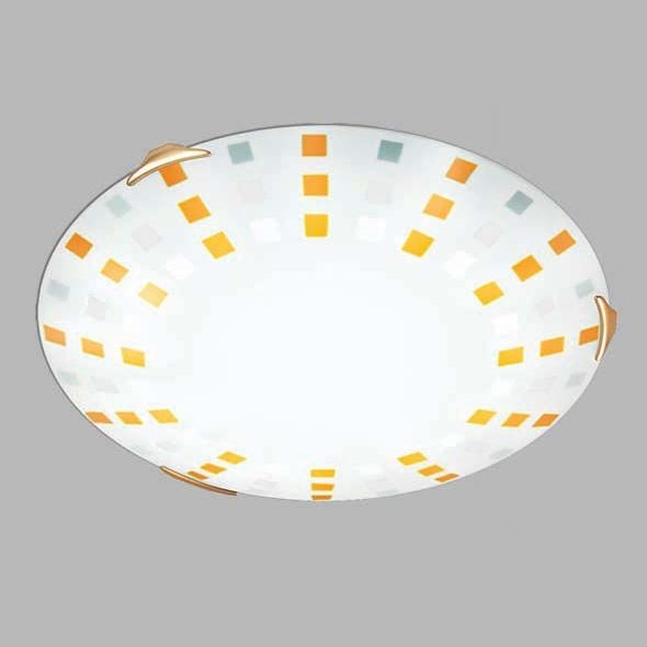 Потолочный светильник Sonex Quadro Ambra 263, 2xE27x100W, золото, желтый, металл, стекло - фото 3