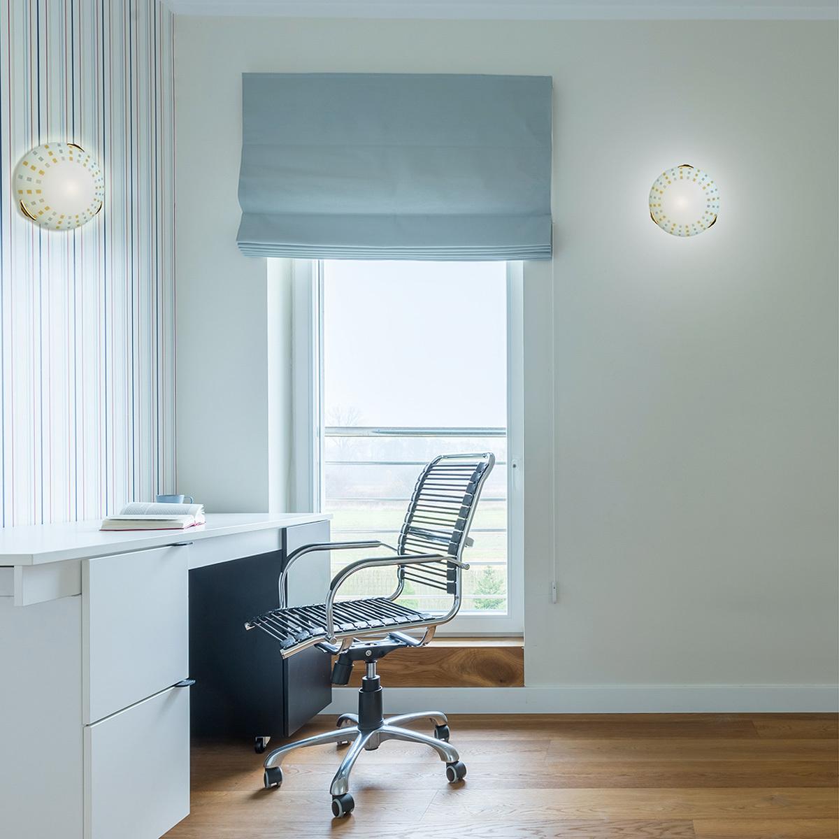 Потолочный светильник Sonex Quadro Ambra 263, 2xE27x100W, золото, желтый, металл, стекло - фото 4
