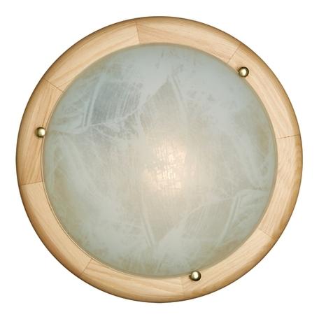 Потолочный светильник Sonex Alabastro 272, 2xE27x60W, коричневый, белый, дерево, стекло