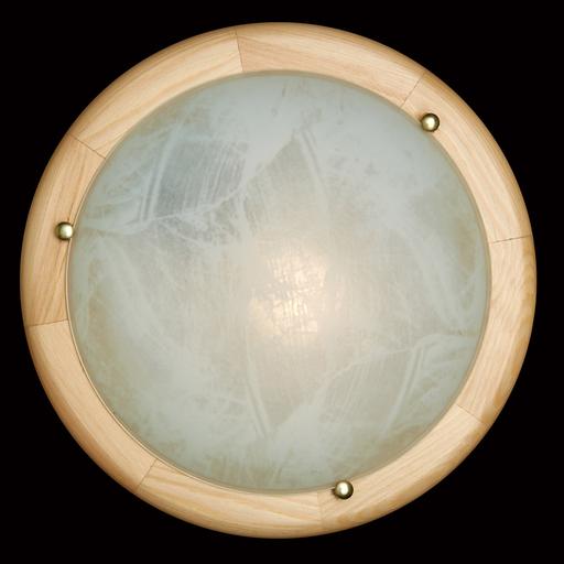 Потолочный светильник Sonex Alabastro 272, 2xE27x60W, коричневый, белый, дерево, стекло - фото 2
