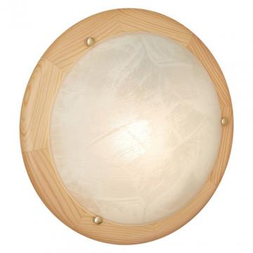 Потолочный светильник Sonex Alabastro 272, 2xE27x60W, коричневый, белый, дерево, стекло - миниатюра 3