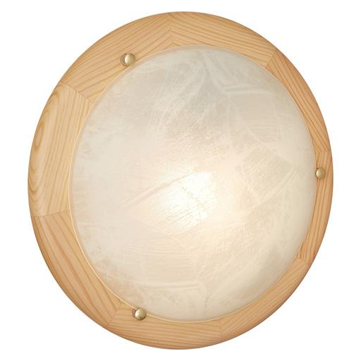 Потолочный светильник Sonex Alabastro 272, 2xE27x60W, коричневый, белый, дерево, стекло - фото 3