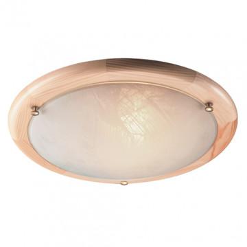 Потолочный светильник Sonex Alabastro 272, 2xE27x60W, коричневый, белый, дерево, стекло - миниатюра 4