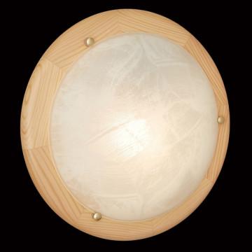 Потолочный светильник Sonex Alabastro 272, 2xE27x60W, коричневый, белый, дерево, стекло - миниатюра 5