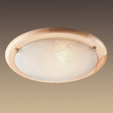 Потолочный светильник Sonex Alabastro 272, 2xE27x60W, коричневый, белый, дерево, стекло - миниатюра 6