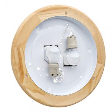 Потолочный светильник Sonex Alabastro 272, 2xE27x60W, коричневый, белый, дерево, стекло - миниатюра 7