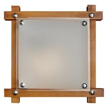 Потолочный светильник Sonex Trial 3241, 3xE27x60W, коричневый, хром, матовый, прозрачный, дерево, стекло