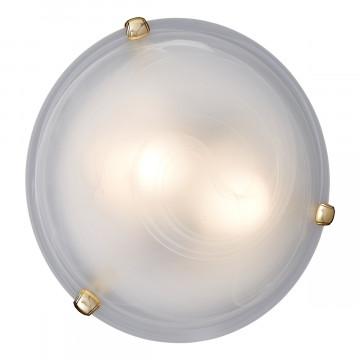Потолочный светильник Sonex Duna 353 золото, 3xE27x100W, золото, белый, металл, стекло - миниатюра 2
