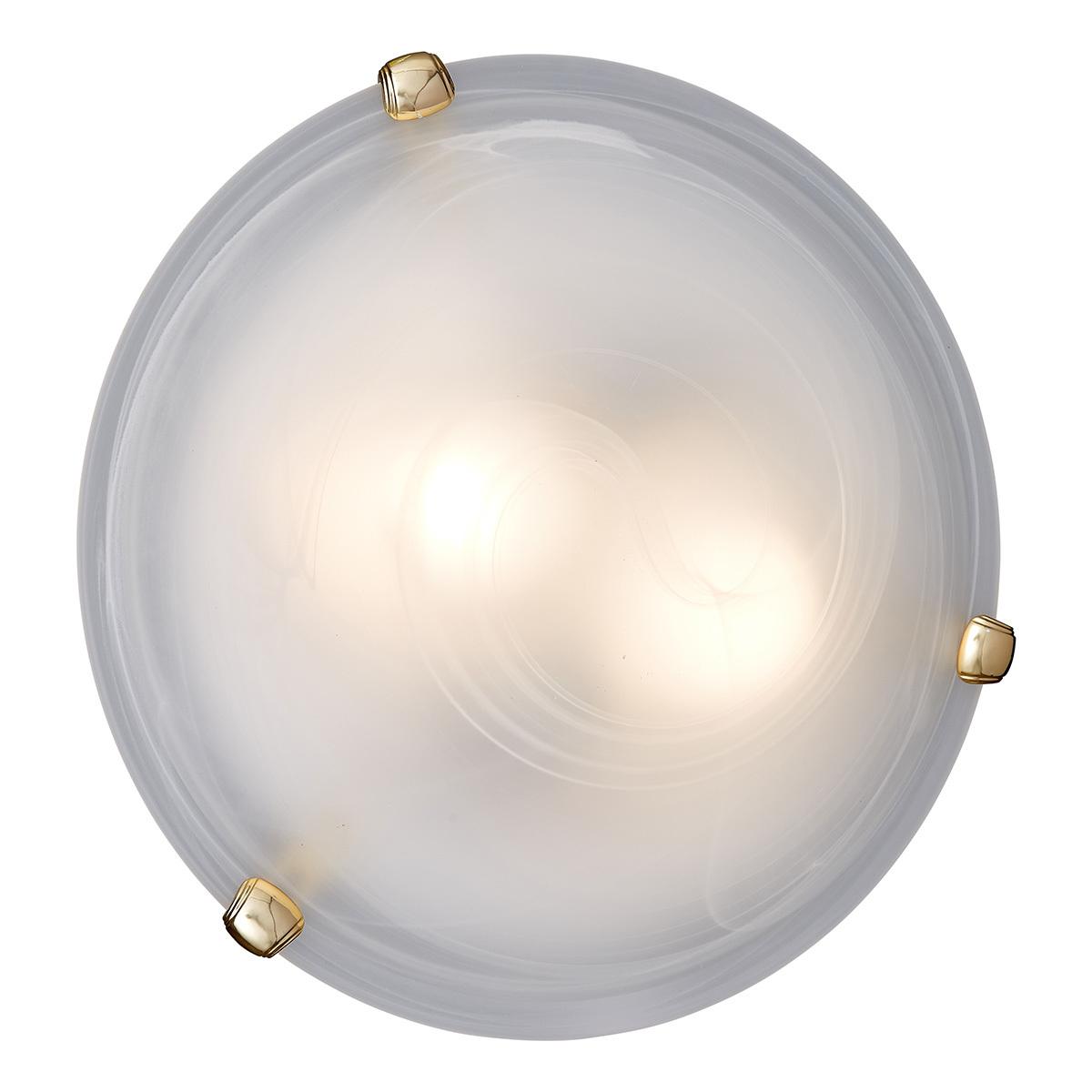 Потолочный светильник Sonex Duna 353 золото, 3xE27x100W, золото, белый, металл, стекло - фото 2