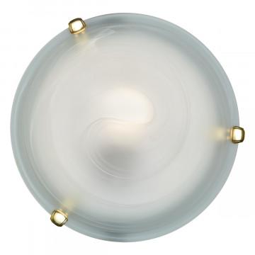 Потолочный светильник Sonex Duna 353 золото, 3xE27x100W, золото, белый, металл, стекло - миниатюра 3