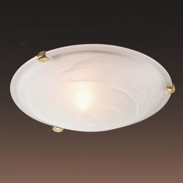 Потолочный светильник Sonex Duna 353 золото, 3xE27x100W, золото, белый, металл, стекло - миниатюра 4