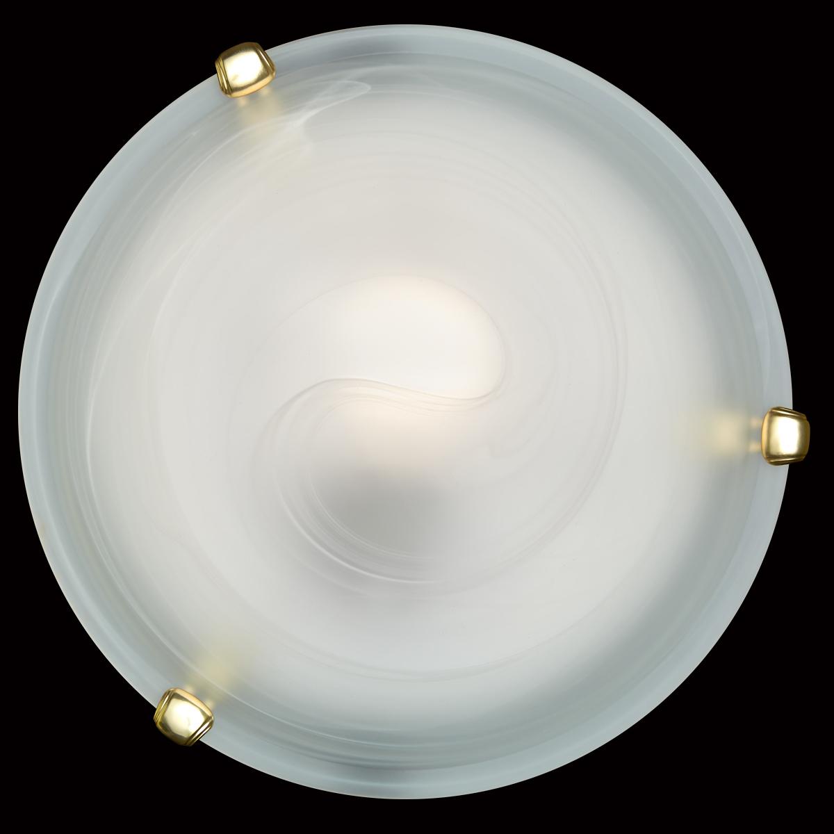 Потолочный светильник Sonex Duna 353 золото, 3xE27x100W, золото, белый, металл, стекло - фото 5