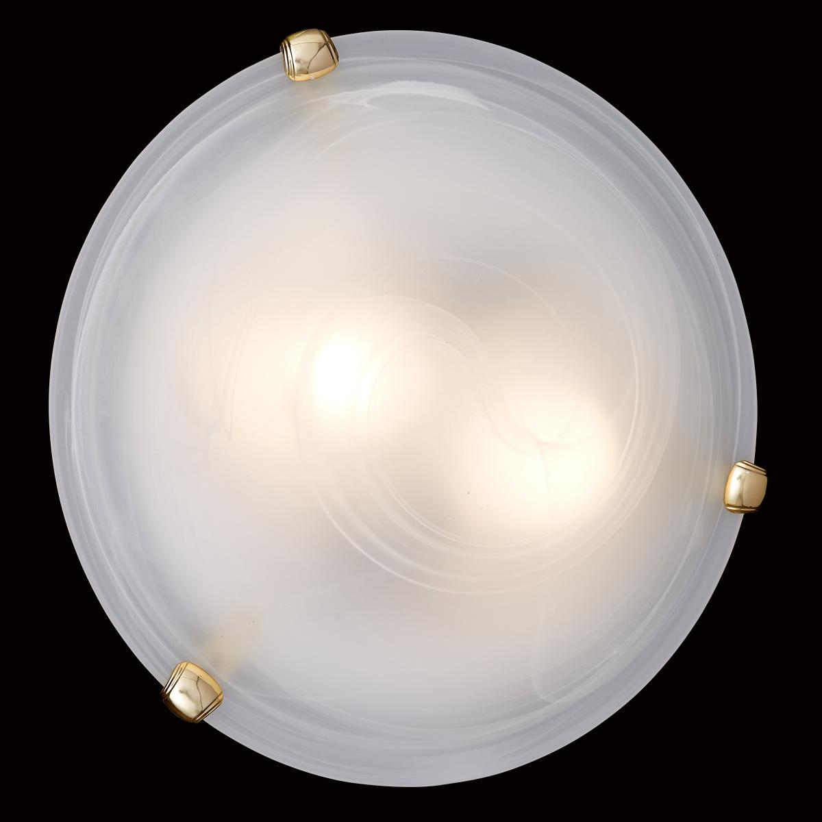 Потолочный светильник Sonex Duna 353 золото, 3xE27x100W, золото, белый, металл, стекло - фото 6