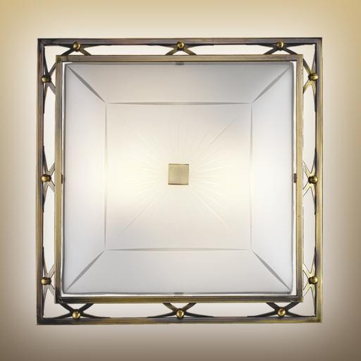 Потолочный светильник Sonex Villa 4261, 4xE27x60W, бронза, матовый, прозрачный, металл, стекло - фото 2