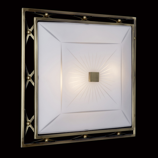 Потолочный светильник Sonex Villa 4261, 4xE27x60W, бронза, матовый, прозрачный, металл, стекло - фото 5
