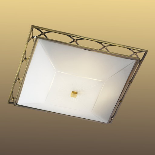 Потолочный светильник Sonex Villa 4261, 4xE27x60W, бронза, матовый, прозрачный, металл, стекло - фото 6