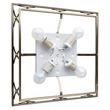 Потолочный светильник Sonex Villa 4261, 4xE27x60W, бронза, матовый, прозрачный, металл, стекло - миниатюра 7