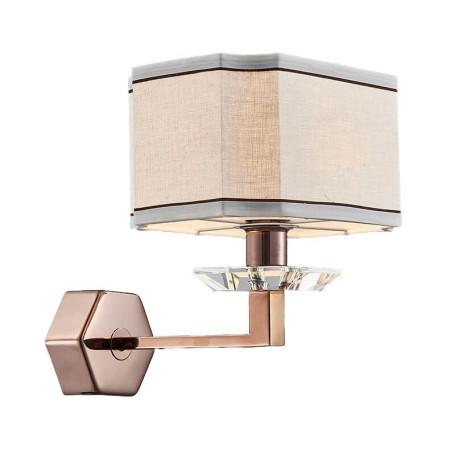 Бра L'Arte Luce Luxury Furstenberg L04021.88, 1xE14x40W, металл, стекло, текстиль