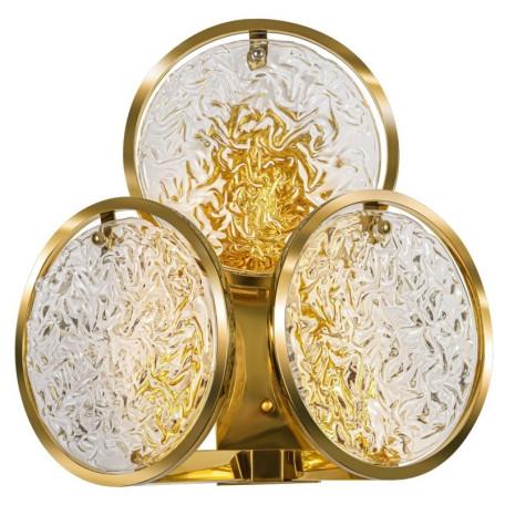 Бра L'Arte Luce Luxury Monate L34123, 3xE14x40W, металл, стекло