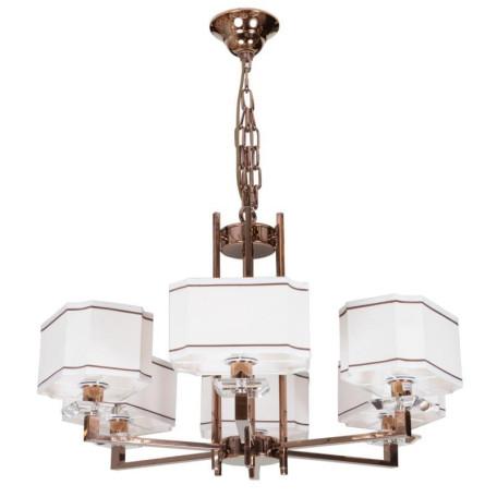 Подвесная люстра L'Arte Luce Luxury Furstenberg L04006.88, 6xE14x40W, металл, стекло, текстиль
