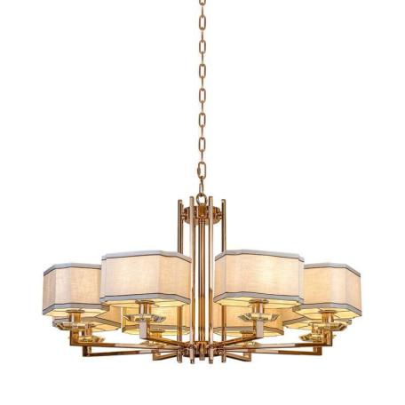 Подвесная люстра L'Arte Luce Luxury Furstenberg L04008.88, 8xE14x40W, металл, стекло, текстиль
