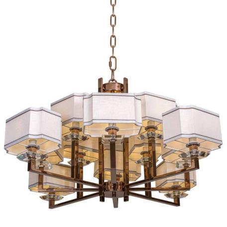 Подвесная люстра L'Arte Luce Luxury Furstenberg L04012.88, 12xE14x40W, металл, стекло, текстиль