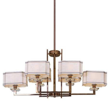 Подвесная люстра L'Arte Luce Luxury Furstenberg L04016.88, 6xE14x40W, металл, стекло, текстиль