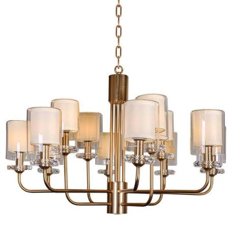 Подвесная люстра L'Arte Luce Luxury Ayger L04112.08, 12xE14x40W, металл, стекло, текстиль