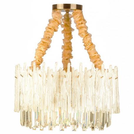 Подвесная люстра L'Arte Luce Luxury Glacier L05010, 10xE14x60W, металл, стекло, хрусталь