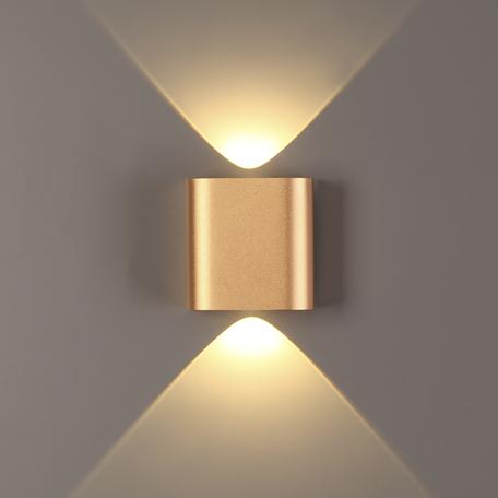 Настенный светодиодный светильник Odeon Light Hightech Magnum 4212/2WL, LED 2W 3000K 241lm, матовое золото, металл