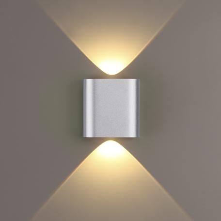Настенный светодиодный светильник Odeon Light Hightech Magnum 4213/2WL, LED 2W 3000K 236lm, серебро, металл