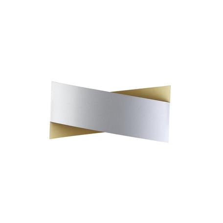 Настенный светодиодный светильник Odeon Light Hightech Twisty 4214/18WL, LED 18W 3000K 900lm, серебро, металл