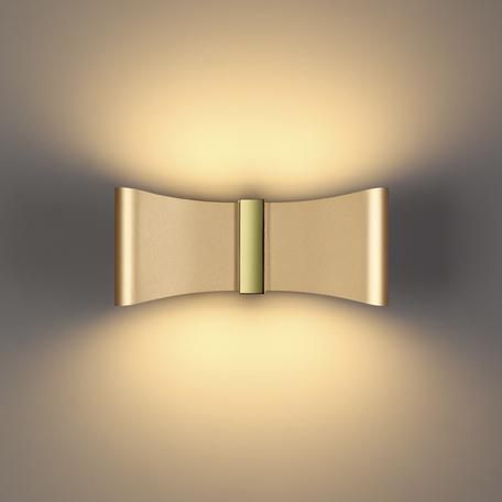 Настенный светодиодный светильник Odeon Light Hightech Motion 4216/12WL, LED 12W 3000K 478lm, матовое золото, металл