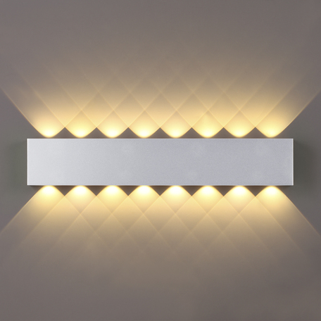 Настенный светодиодный светильник Odeon Light Hightech Magnum 4217/16WL, LED 16W 3000K 1754lm, серебро, металл