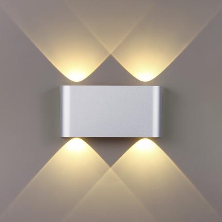 Настенный светодиодный светильник Odeon Light Hightech Magnum 4217/4WL, LED 4W 3000K 434lm, серебро, металл