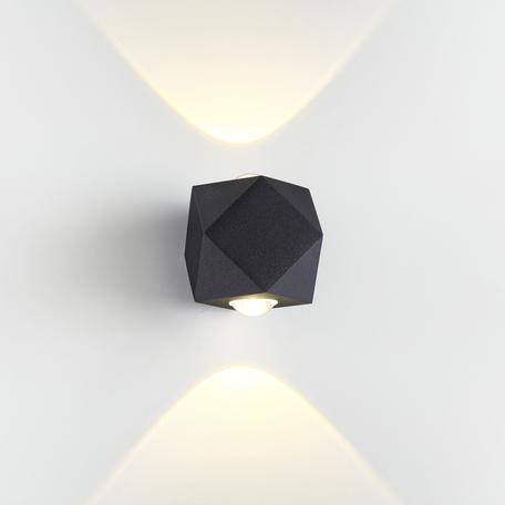Настенный светодиодный светильник Odeon Light Hightech Diamanta 4218/4WL, IP54, LED 4W 3200K 350lm, черный, металл